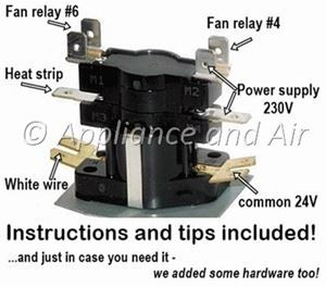 Electric    Furnace    Sequencer Replacement Instructions for Home Repair